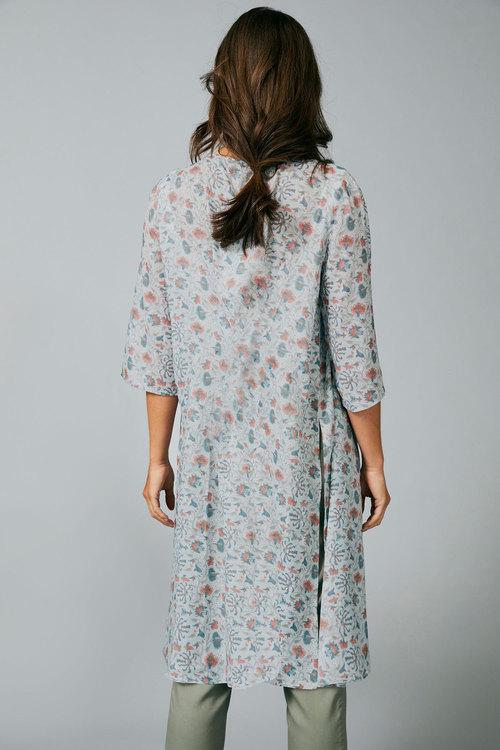Capture Textured Printed Kimono