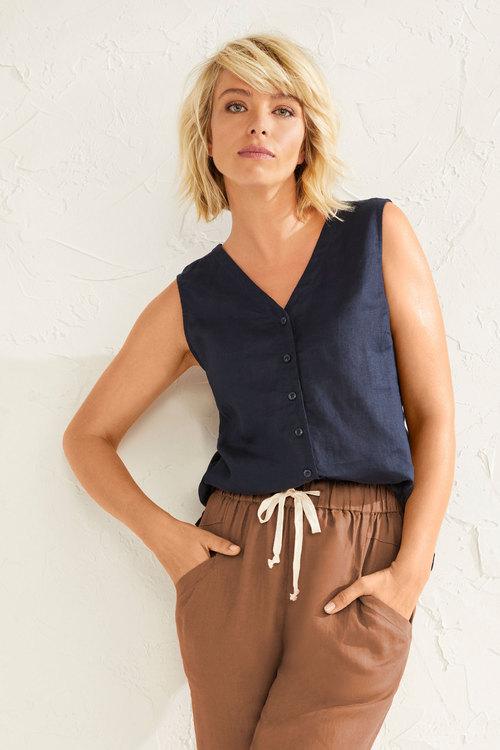 Capture Linen Sleeveless Shirt