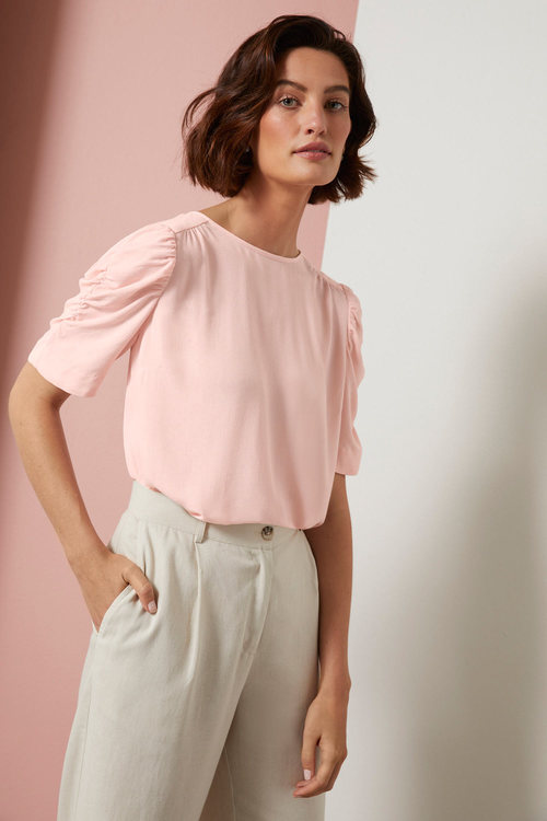 Grace Hill Gather Sleeve Top
