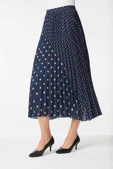 Grace Hill Pleated Panelled Skirt - 253874