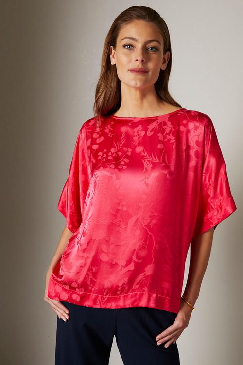 Grace Hill Jacquard Kimono Top