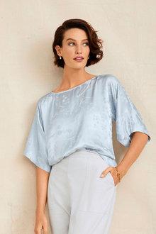Grace Hill Jacquard Kimono Top - 253878