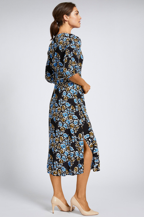 Grace Hill Shirred Detail Midi Dress