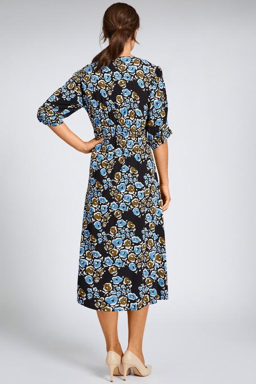 Grace Hill Shirred Detail Midi Dress