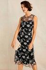 Grace Hill Embroidered Midi Dress