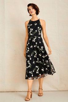 Grace Hill Embroidered Midi Dress - 253886