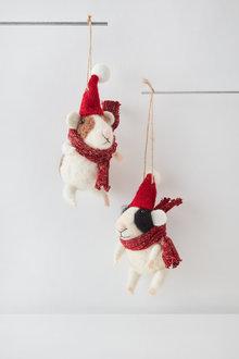 Santas Mice Hanging Decoration - 253890