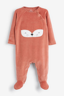 Next Fox Velour Sleepsuit (0mths-2yrs) - 253894