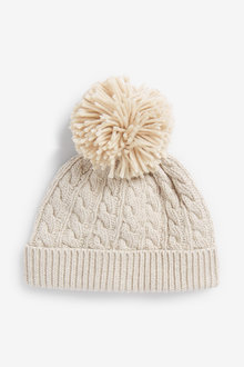 Next Cable Pom Hat (0mths-2yrs) - 253907