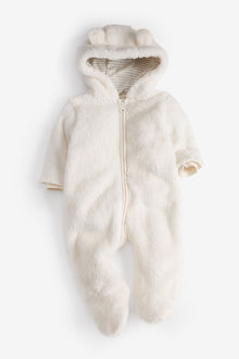 Next Cosy Fleece Bear Pramsuit (0mths-2yrs) - 253921