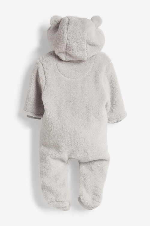 Next Cosy Fleece Bear Pramsuit (0mths-2yrs)