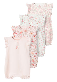Next 4 Pack Floral Rompers (0mths-3yrs) - 253926