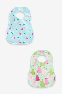 Next 2 Pack Fruit Crumb Catcher Bibs - 253929