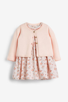 Next Floral Prom Dress And Cardigan Set (0mths-3yrs)