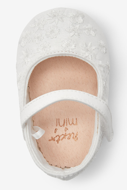 Next Embroidered Pram Shoes (0-18mths)