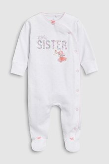 Next Little Sister Embroidered Sleepsuit (0-18mths) - 253941