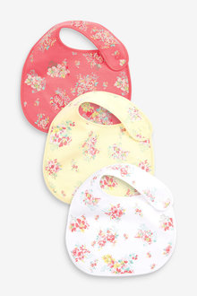 Next 3 Pack Ditsy Floral Regular Bibs - 253970