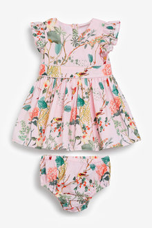 Next Floral Prom Dress With Knickers (0mths-2yrs) - 253973