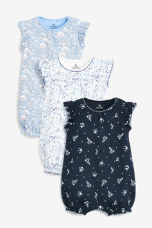 Next 3 Pack Floral Rompers (0mths-3yrs) - 253983
