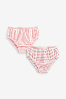Next 2 Pack Jersey Frill Knickers (0mths-2yrs) - 253994