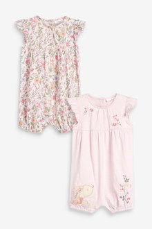 Next 2 Pack Floral Rompers (0mths-3yrs) - 254003