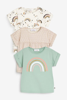 Next 3 Pack Rainbow T-Shirts (0mths-2yrs) - 254007