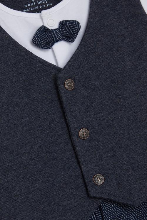 Next Smart Bow Tie Sleepsuit (0mths-2yrs)