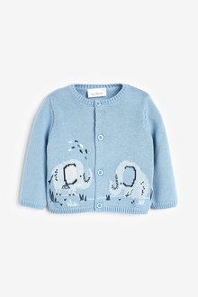 Next Knitted Elephant Cardigan (0mths-3yrs)