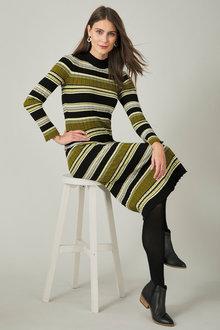 Capture Ribbed Knit Midi Dress - 254073