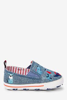 Next Dogs Slip-On Pram Shoes (0-24mths)