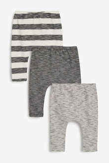 Next 3 Pack Stretch Leggings (0mths-3yrs) - 254087