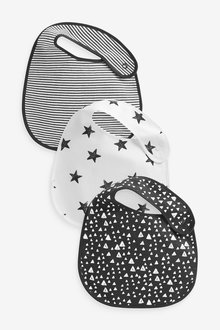 Next 3 Pack Multi Print Regular Bibs - 254098