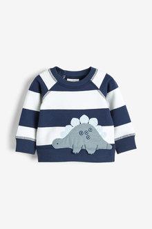 Next Stripe Dinosaur AppliquA Sweater (0mths-3yrs) - 254102