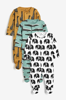 Next 3 Pack Character Sleepsuits (0mths-2yrs) - 254122