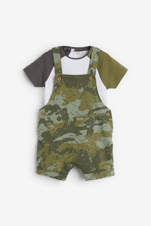 Next Camouflage Dungarees And Bodysuit Set (0mths-2yrs) - 254127