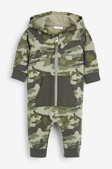 Next Hooded Romper (0mths-2yrs) - 254128
