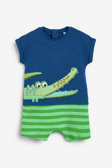 Next Crocodile AppliquA Romper (0-18mths) - 254131