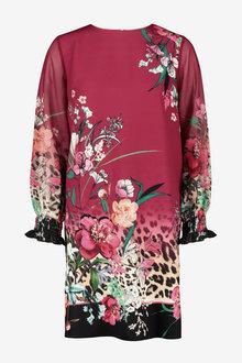Next Border Print Dress - 254218
