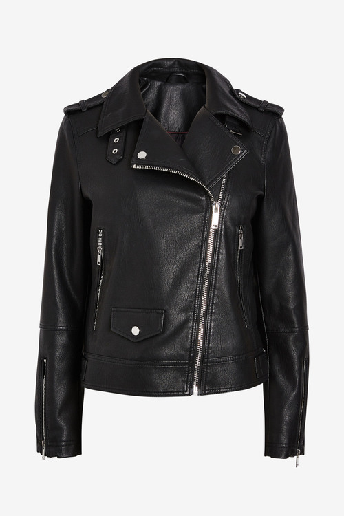 Next Faux Leather Biker Jacket