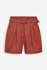 Next Linen Belted Shorts