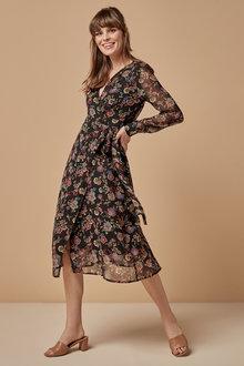Next Print Wrap Dress - 254354