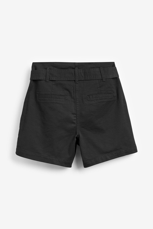 Next Cotton Rich Belted Shorts