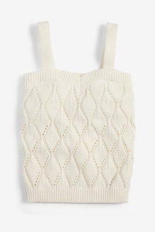 Next Knitted Pointelle Detail Vest