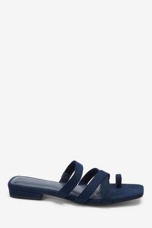 Next Forever Comfort Toe Loop Mules - 254401