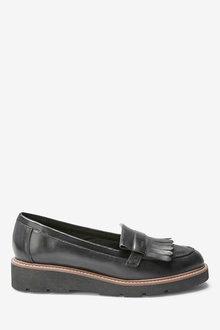 Next Forever Comfort EVA Leather Fringe Loafers-Wide Fit - 254449