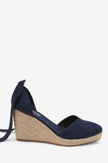 Next Ankle Tie Espadrille Wedges - 254528