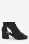Next Low Cut Out Shoe Boots-Wide Fit