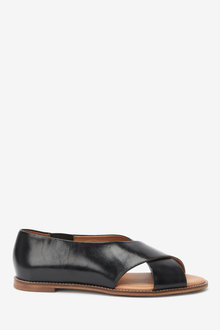 Next Leather Peep Toe Shoes - 254556