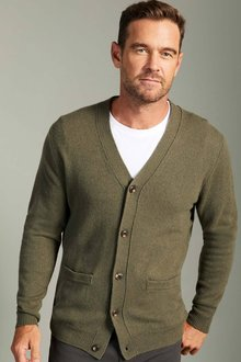 Southcape Lambswool V Neck Cardigan - 254569