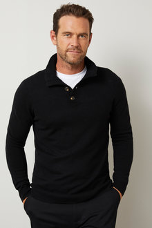 Southcape Lambswool Button Sweater - 254570